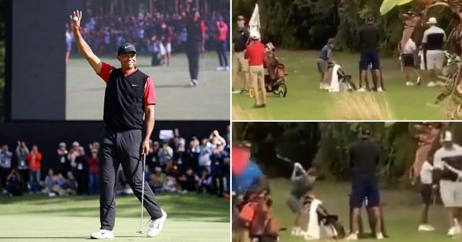 """Image result for Tiger Woods' Son Shows Off Golfing Skills, Video Goes Viral: """"That Swing"""""""