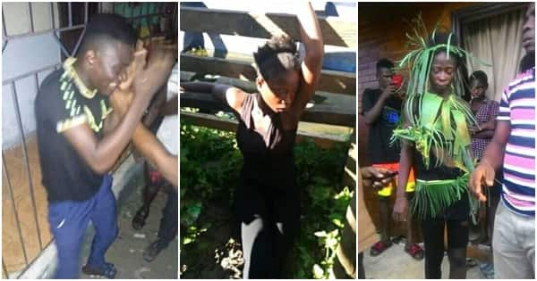 Young man narrowly escapes jungle justice after lady wrongly accused him of stealing underwear