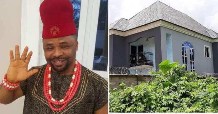 Actor Dike Osinachi builds new mansion in Owerri, shares photo