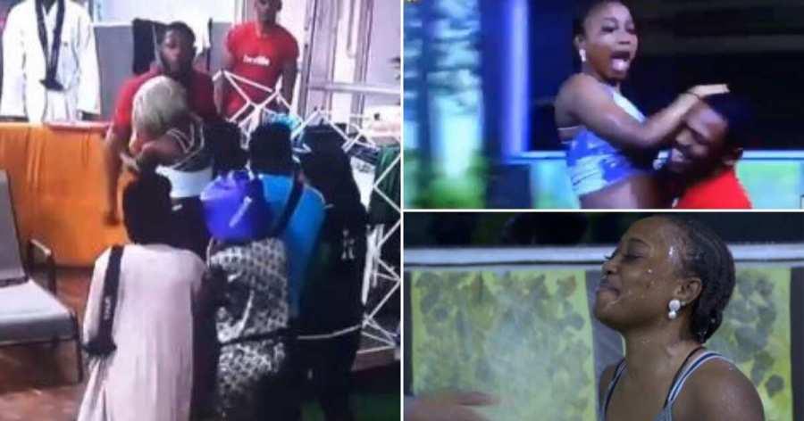 BBNaija: Frodd, Sir Dee, others play birthday prank on Esther as she hits 23