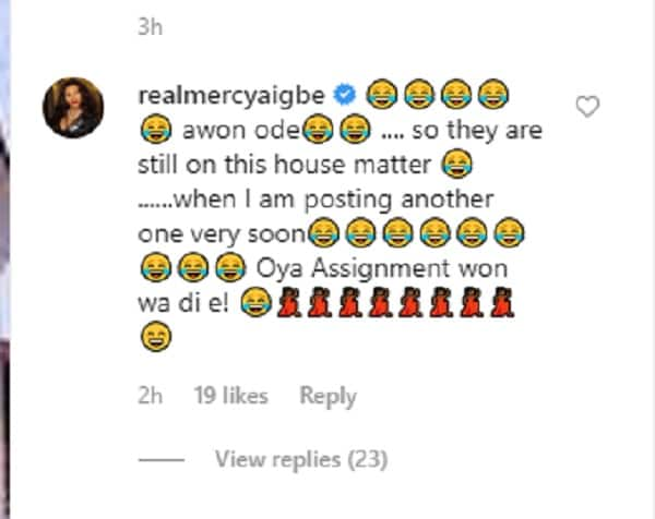 IG user spills that Mercy Aigbe did not buy her Magodo mansion, claims she rented it, actress reacts