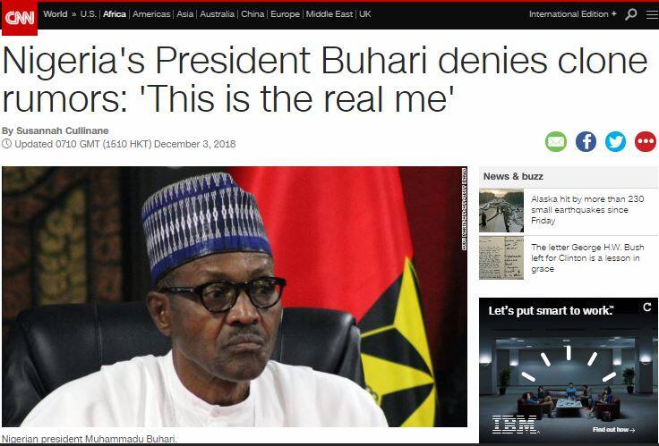 International media react as Buhari denies being cloned, replaced by 'Jibril from Sudan'