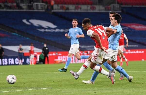 Arsenal vs Man City: Aubameyang's brace sinks Guardiola's men at Wembley Stadium