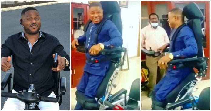 Yinka Ayefele 23 Years Since He Was Crippled After A Car Accident Stands On His Feet For The First Time (VIDEO
