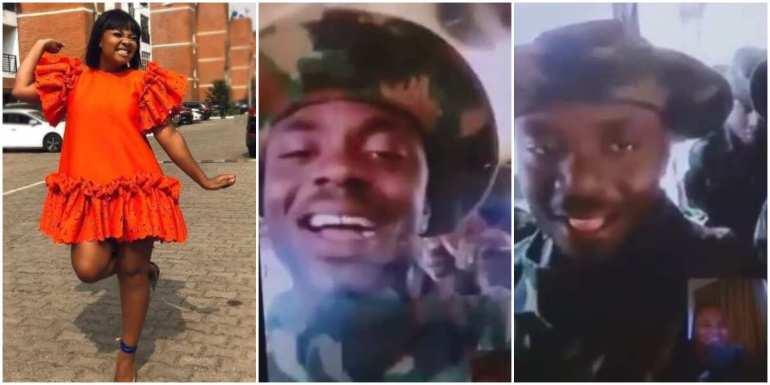 Actress Bimbo Ademoye shares sweet video of her soldier brother wishing her a happy birthday