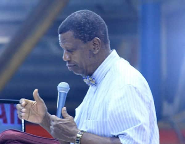 Reactions as Pastor Adeboye tells his son to sack a secretary who excites him