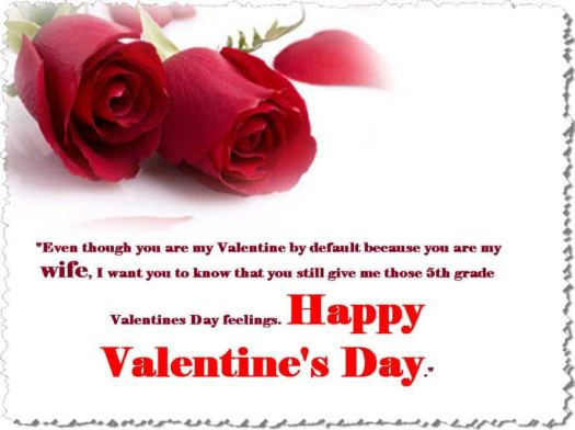 Valentines message for wife