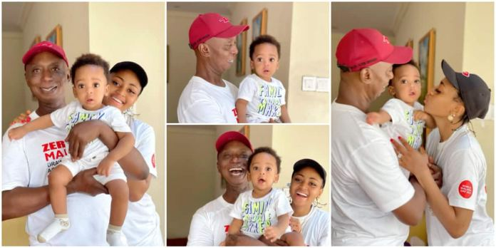 Regina Daniels and Ned Nwoko Flood IG with Heart-Melting Family Pictures as Son clocks 10 Months