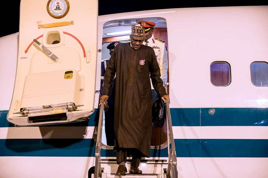 President Buhari returns to Nigeria from Poland (photos)