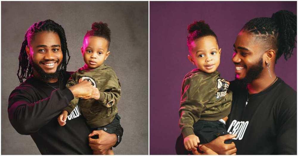 BBNaija 2020: Praise shares adorable photos with his son