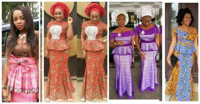 Nigerian traditional long skirt styles