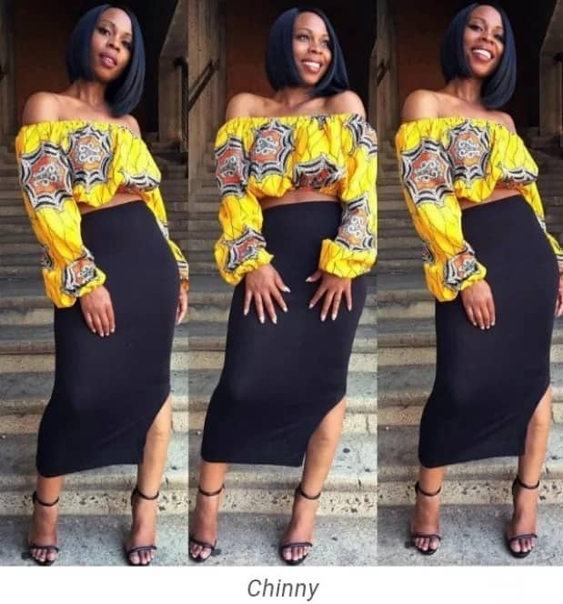 Unique Ankara styles 2017 - blouse and skirt