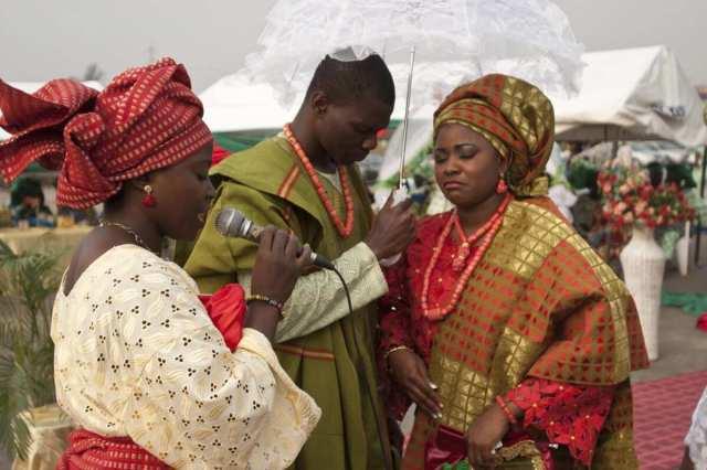 Yoruba traditional wedding men's fashion