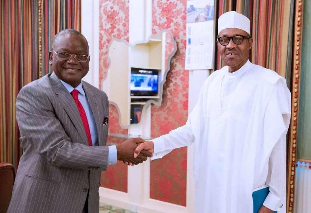 Image result for Ortom and buhari