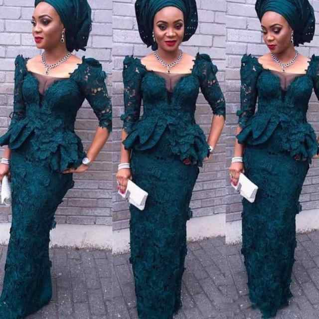 Nigerian traditional styles: Gorgeous lace dress
