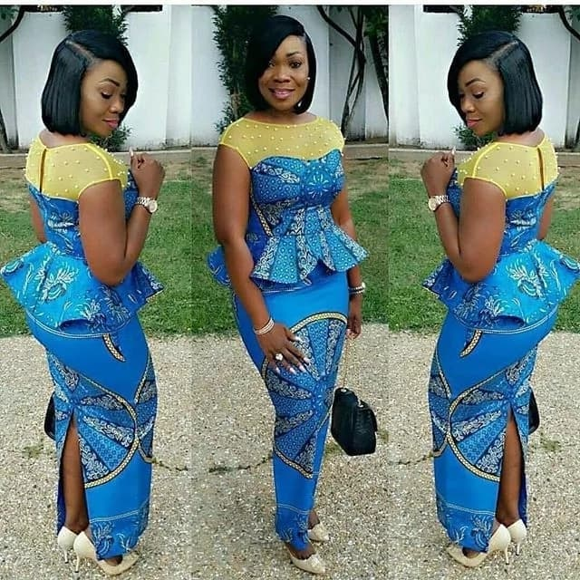 Fashion in Nigerian traditional styles - Ankara and lace