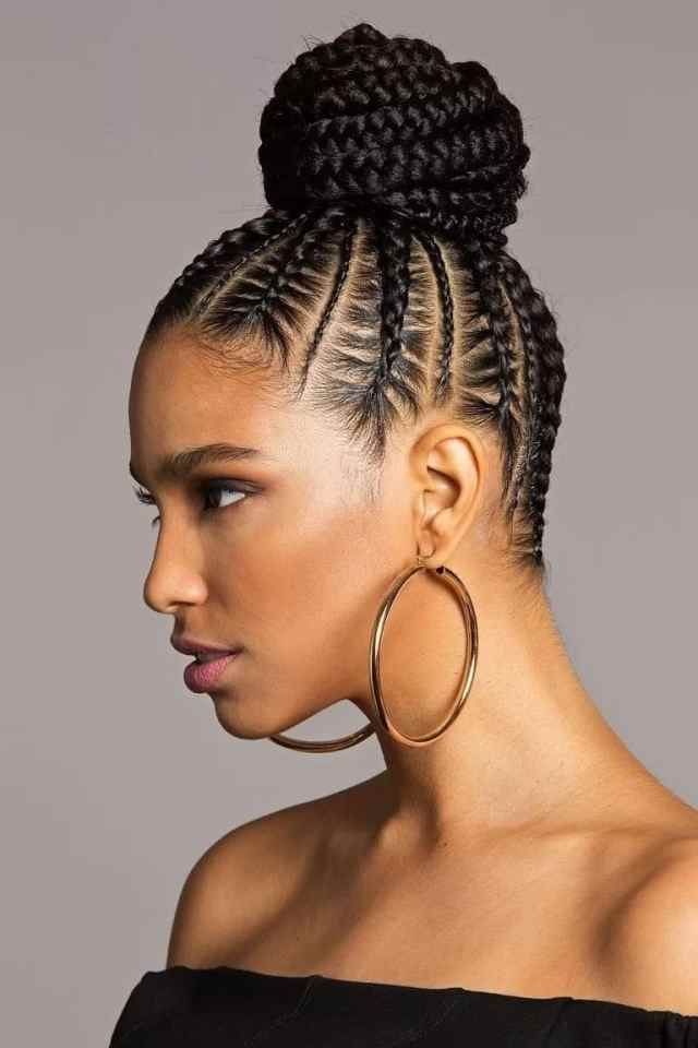 20 best cornrow braid hairstyles for black women with an