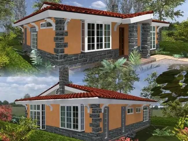 Simple two bedroom house plans in Kenya Tuko.co.ke