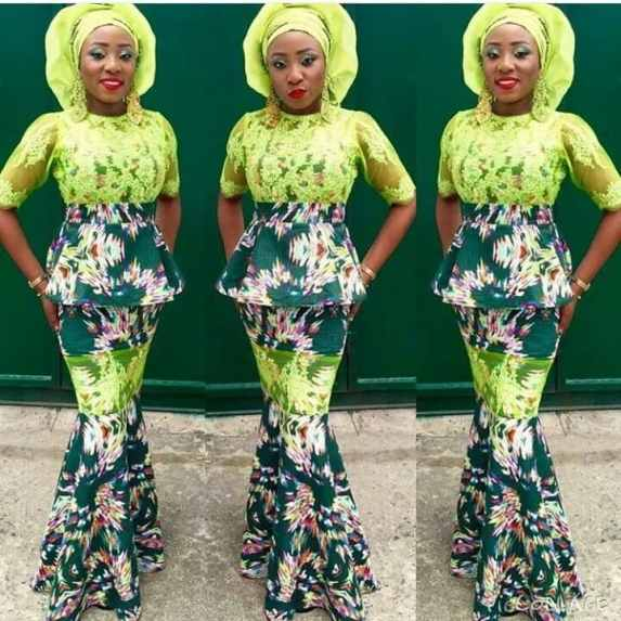 Ankara lace styles for ladies in Nigeria