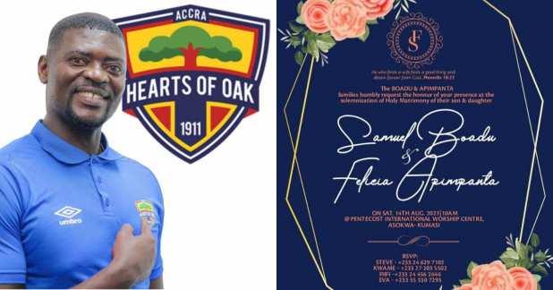 Double delight! Hearts Coach Samuel Boadu set to marry in August