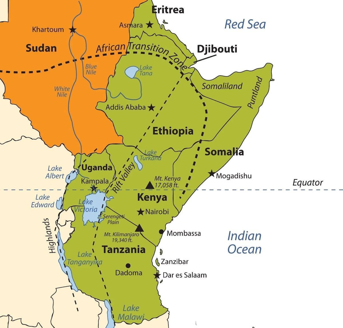 List Of East African Countries And Their Capitals Yen