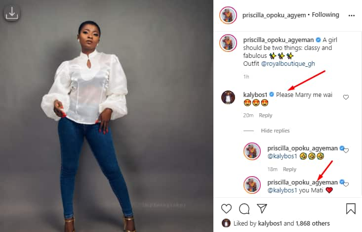Ahuofe Patri: Actress Finally Agrees to Marry Kalybos After Rejecting him for Years