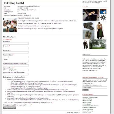 Visning av kurs med påmeldingsskjema - Bærum Husflidsforening 2009