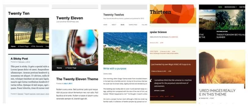 WordPress standard temaer