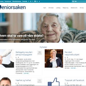 Seniorsaken.no skjermdump