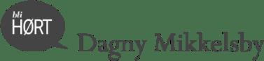 Bli HØRT Dagny Mikkelsby grå logo