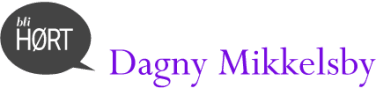 Bli HØRT Dagny Mikkelsby lilla logo