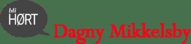 Bli HØRT Dagny Mikkelsby orange logo