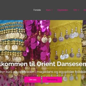 Orient Dansesenter skjermdump