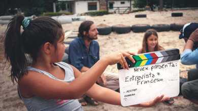 Niños de Jaureguiberry filman el avance de las obras de la primera escuela pública sustentable de América Latina