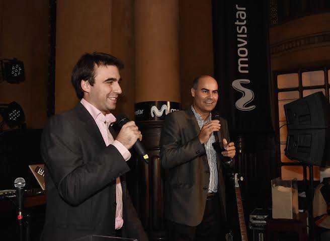 Gonzalo Ferrando, Head of Office de Samsung Uruguay y Fernando Leis, director de Marketing de Movistar Uruguay