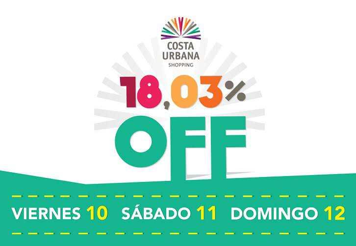 Tres días para disfrutar los descuentos de Costa Urbana Shopping