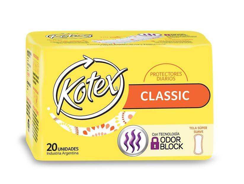 Kotex lanzó los nuevos protectores Odor Block, que brindan frescura durante todo el día