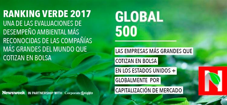 L'Oréal es reconocida como la empresa más sostenible en la clasificación Global 500 Green Rankings 2017 de Newsweek