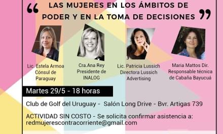 Este martes 29, a las 18 horas: «Las Mujeres en los ámbitos de Poder y en las tomas de Decisiones»