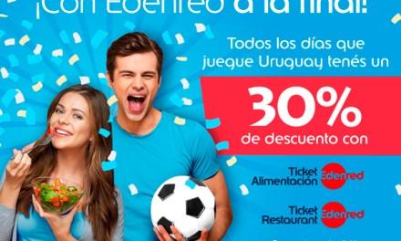 PedidosYa descontará el 30% por pagos con Ticket Alimentación en el partido de Uruguay y Portugal
