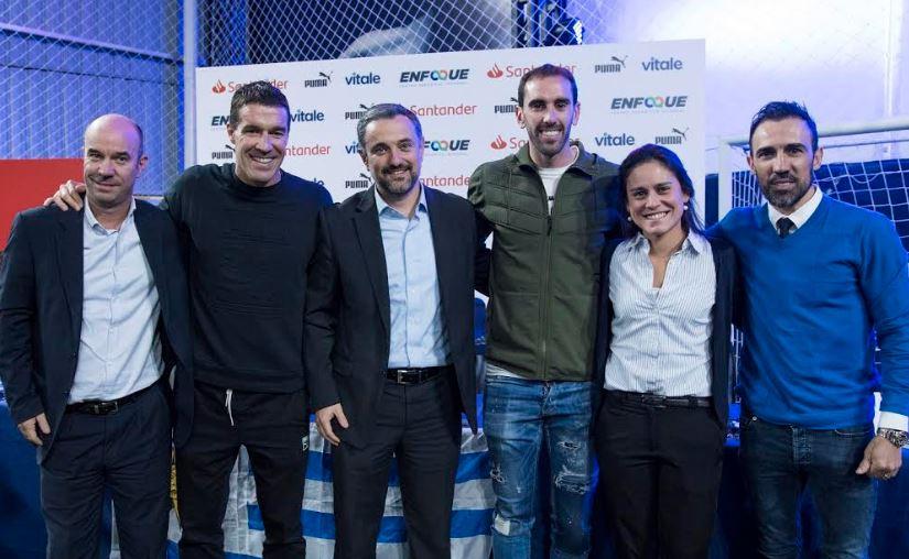 Banco Santander y los hinchas uruguayos muestran su apoyo a Diego Godín