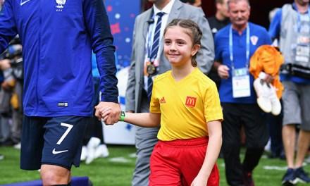 Sofía, la uruguaya que ingresó en la final de la  Copa del Mundo Rusia 2018