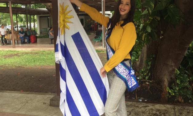 Lucía Floro arribó a El Salvador para representar a Uruguay en Miss Teen Mundial 2019