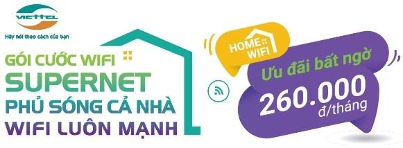 Gói cước Home wifi Supernet Viettel