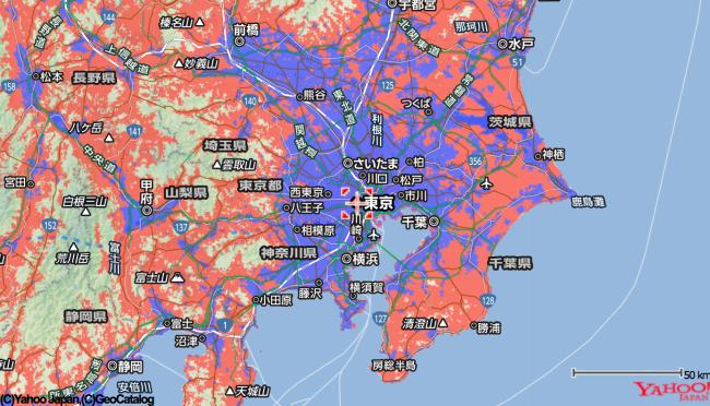 Yahoo!WiFi エリア