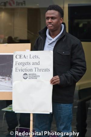 Protest against delapidated housing, Bristol, UK 22/12/14