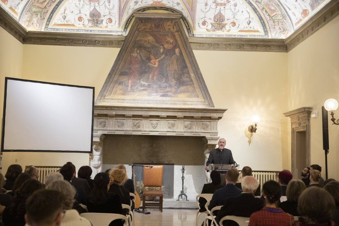 His Eminence Metropolitan Emmanuel of France with opening remarks at the launch of the Network for Dialogue, Bologna, Italy - March 2019
