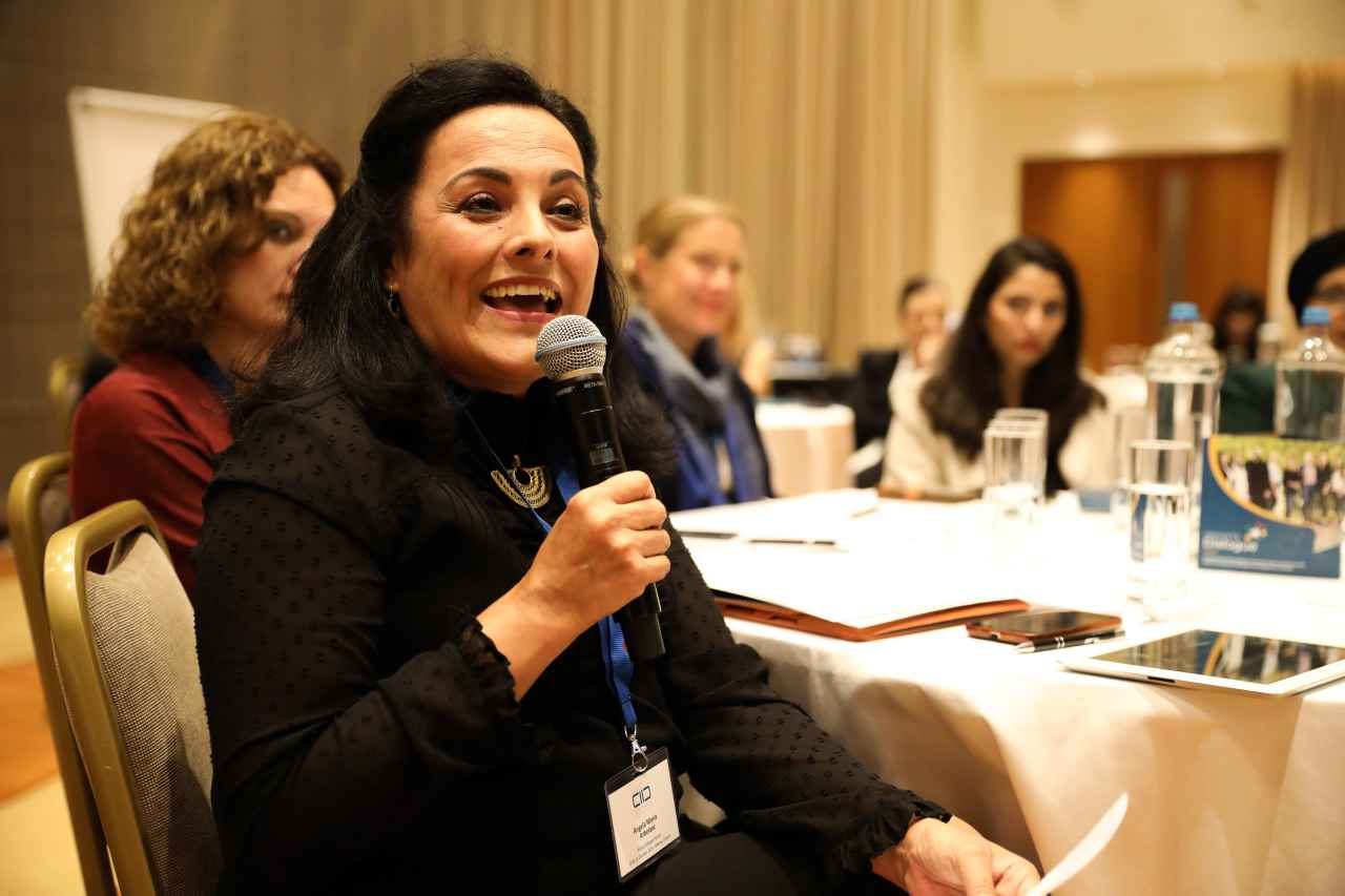 Network member, Dr. Ángela María Arbeláez at the 1st European Policy Dialogue Forum, Athens, Greece - October 2019