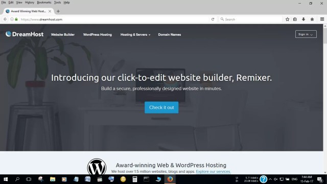 A review of DreamHost web hosting