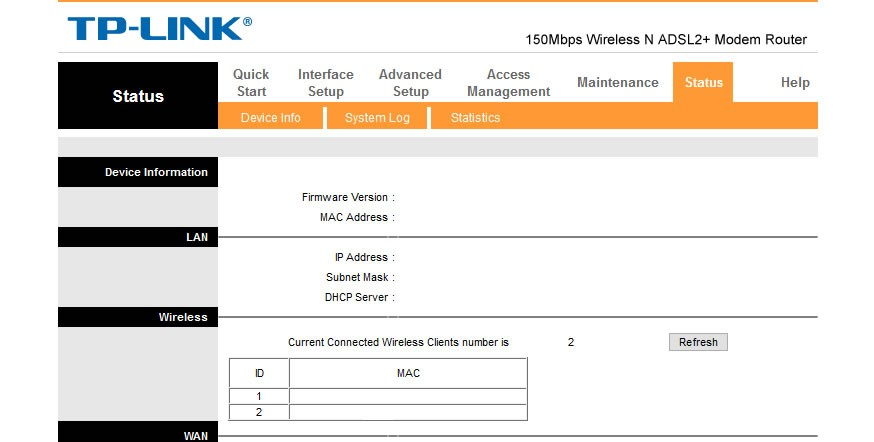 change the WiFi Password on a TelOne ADSL router